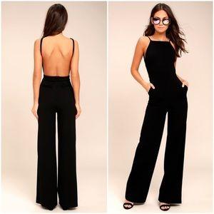 NWOT Lulus Something to Behold Black Jumpsuit